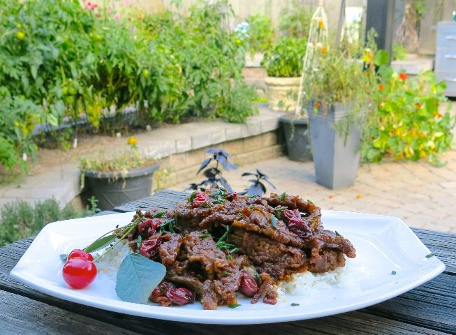 1 Sour Cherry Ginger Beef