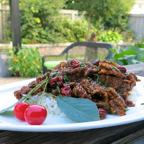 2 Sour Cherry Ginger Beef