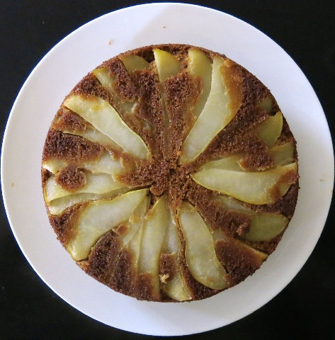 26 Pear Upside Down Gingerbread Cake
