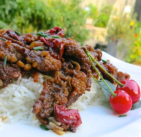 3 Sour Cherry Ginger Beef