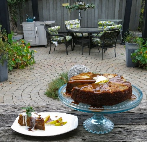 34 Pear Upside Down Gingerbread Cake