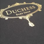 Duchess Bakeshop Cookbook Cover on angle