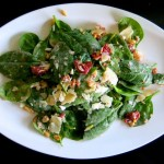 1 Spinach Salad with Preserved Sour Cherries