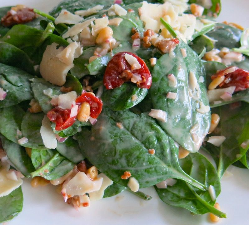 2 Spinach Salad with Preserved Sour Cherries