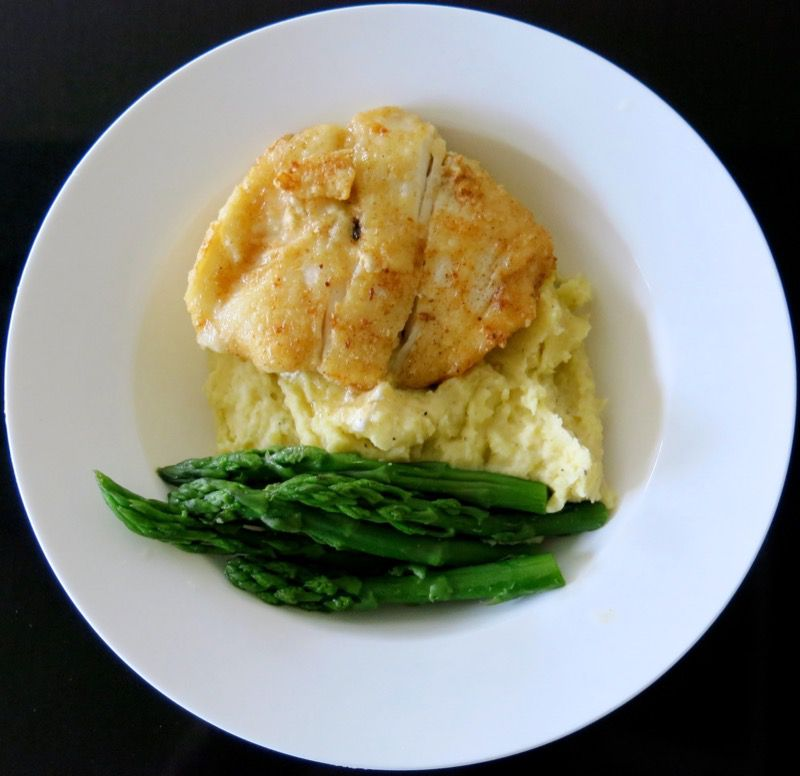 9 Hallibut Cheeks with Asparagus and Beurre Blanc