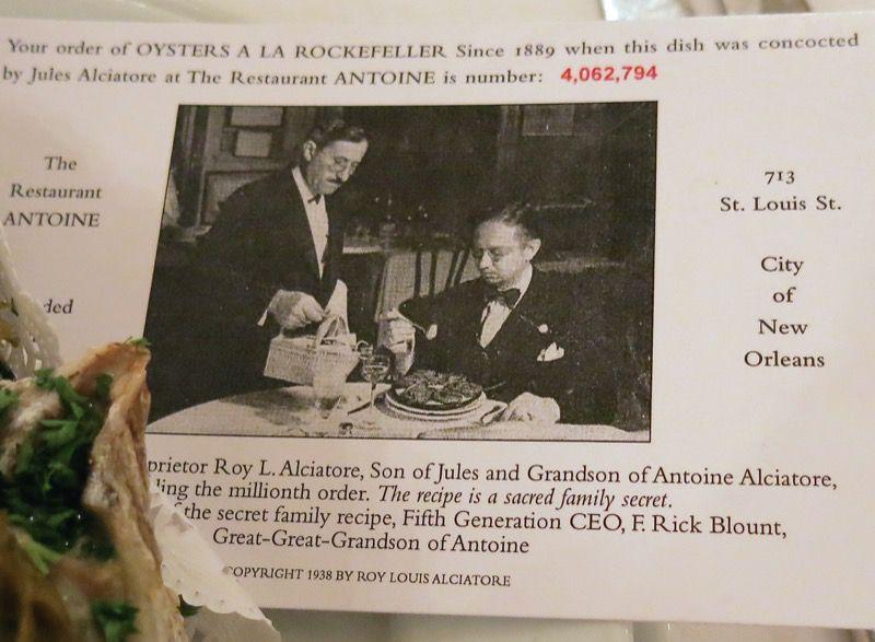 33 Oysters Rockefeller Antoines