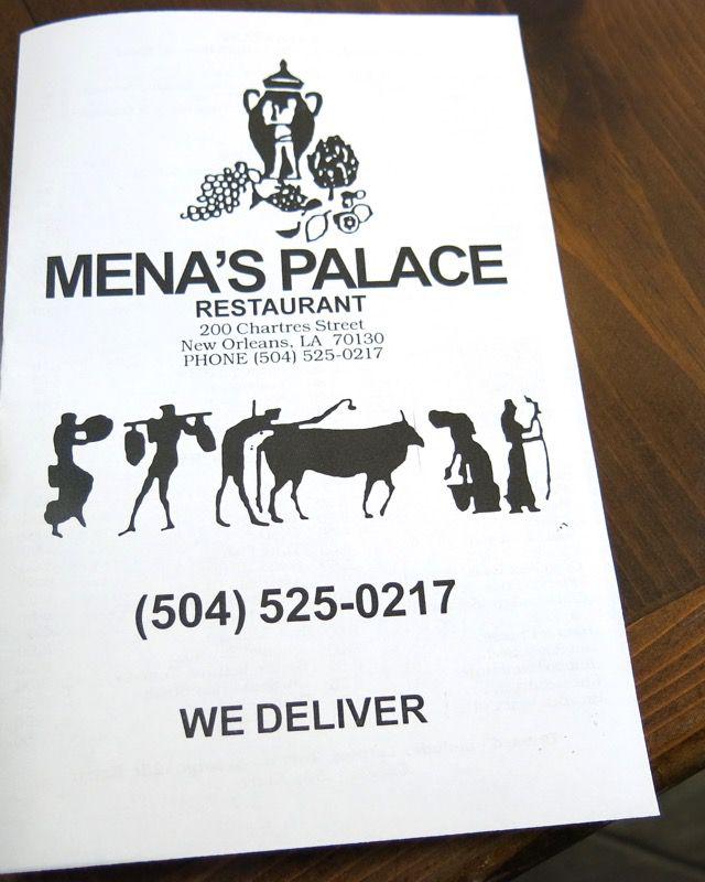 9 Mena's Palace Menu