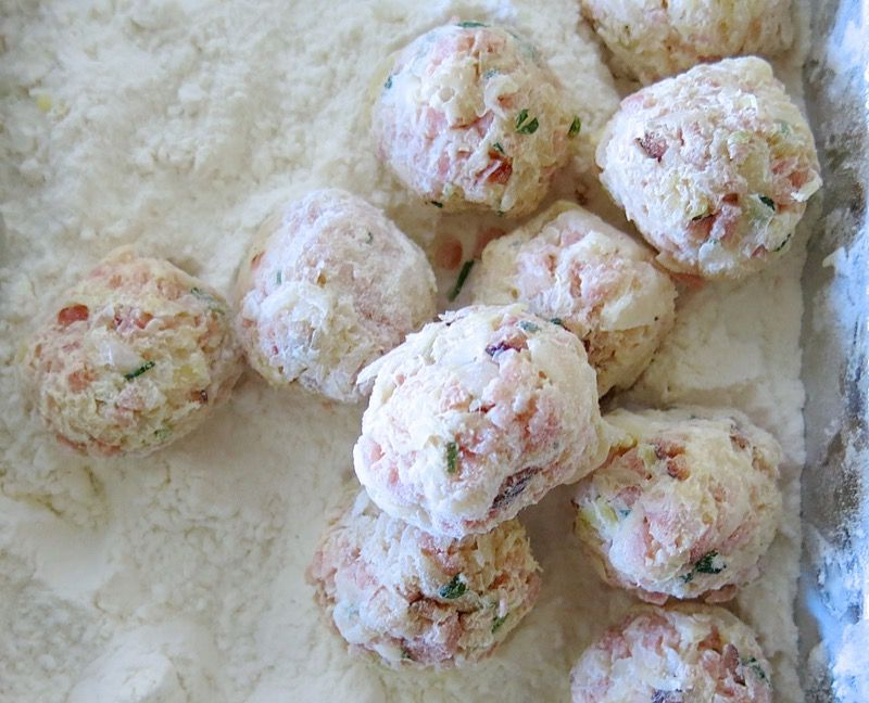 13 Ham and Sauerkraut Balls