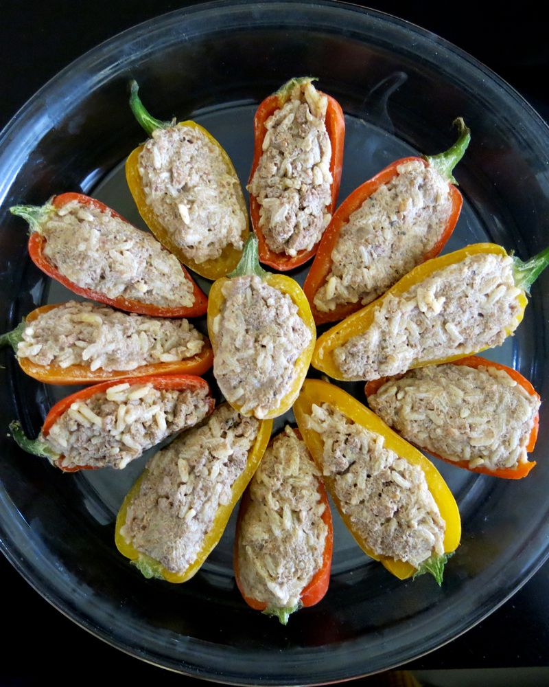 16 Miniature Stuffed Peppers