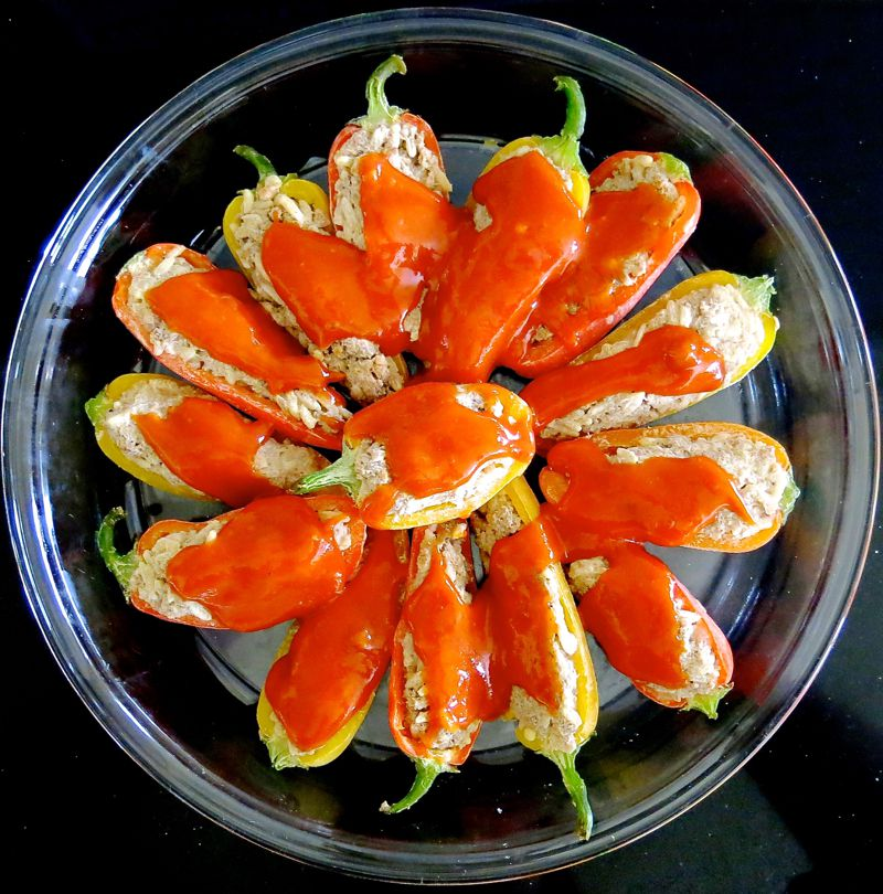 17 Miniature Stuffed Peppers