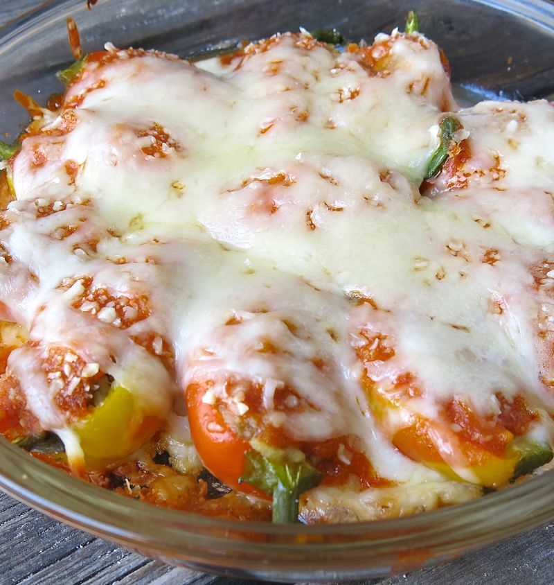 3 Miniature Stuffed Peppers