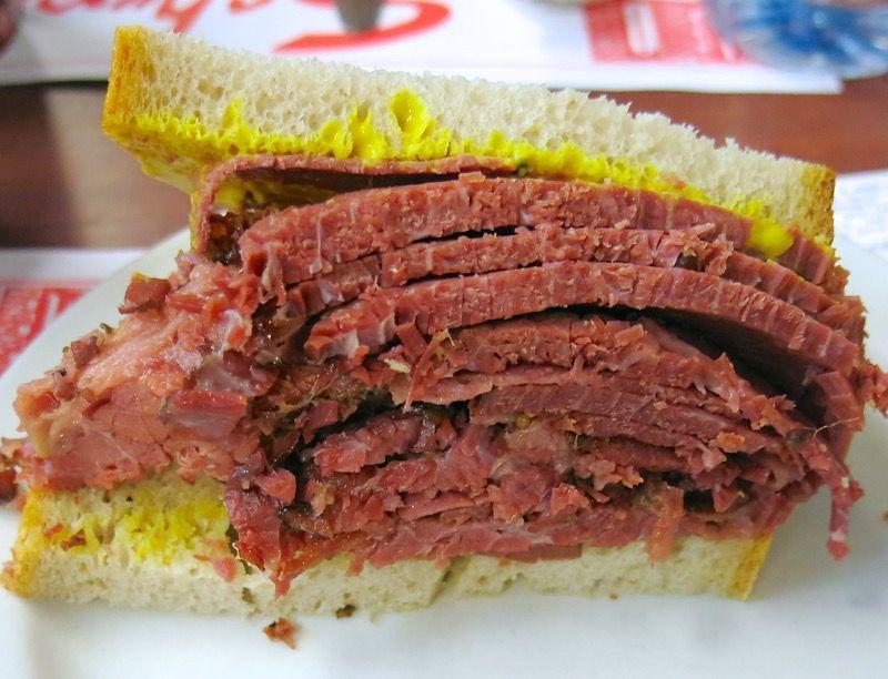 Schwartz Montereal Smoked Meat Sandwich