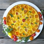 Summer Tomato Tart or Tomato Quiche