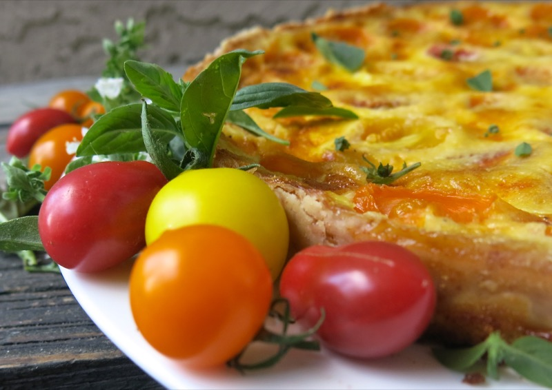 3 Tomato Tart or Quiche