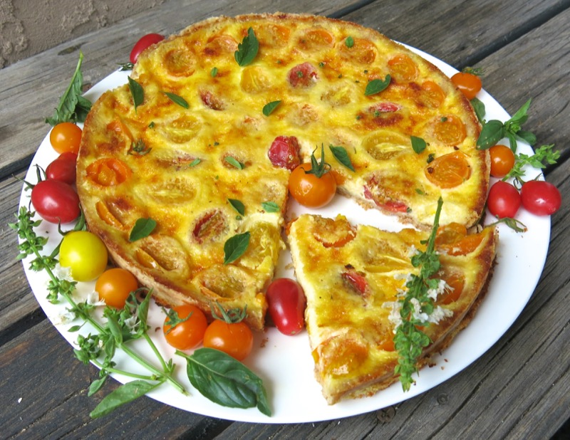 5 Tomato Tart or Quiche Sliced