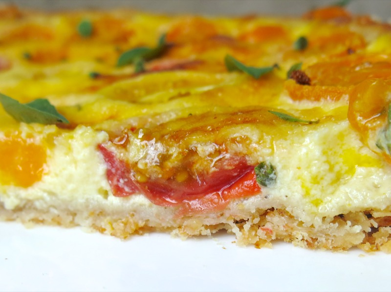 6 Tomato Tart or Quiche Slice
