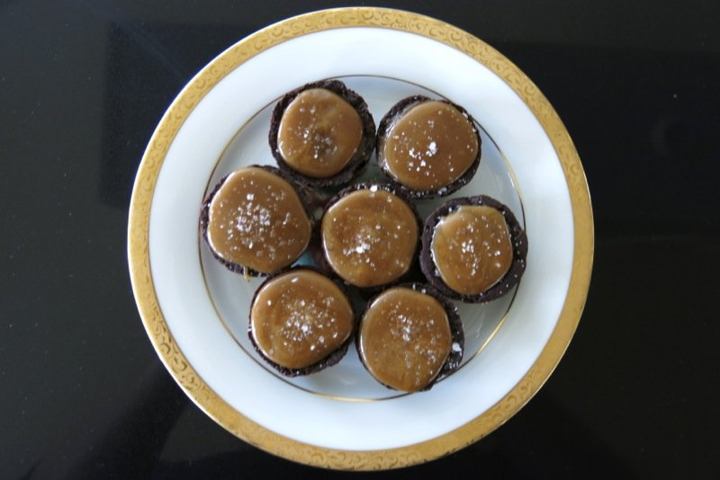 Thermomix Salted Caramel Chocolate Ganache Tarts