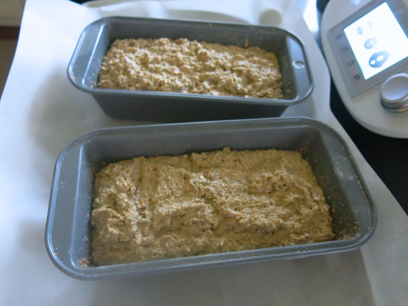 19b Traditional German Brown Bread Dough in Pans