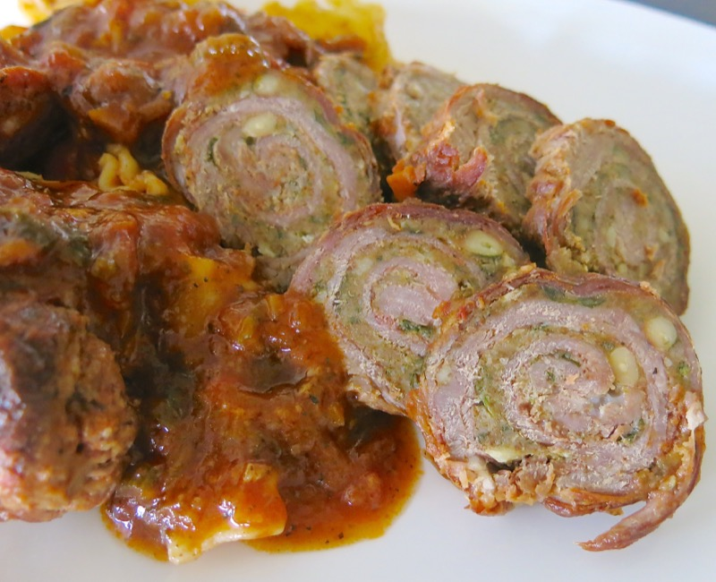 27 Baciole with Sausage in Tomato Sauce