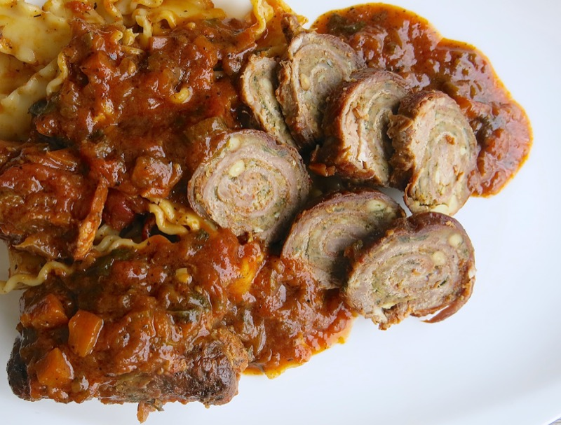 28 Baciole with Sausage in Tomato Sauce