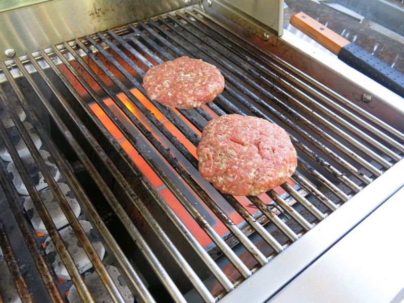 11 Grilling Homemade Hamburger