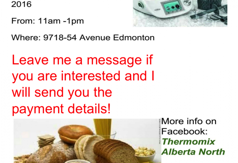 Thermomix Cooking Class in Edmonton