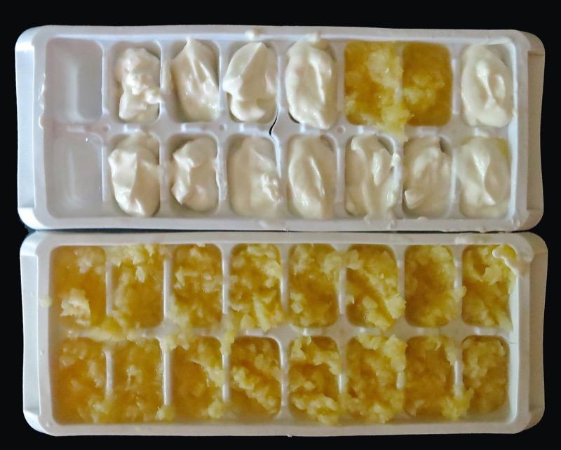 7 Pinacolada Frozen Yogurt Cubes