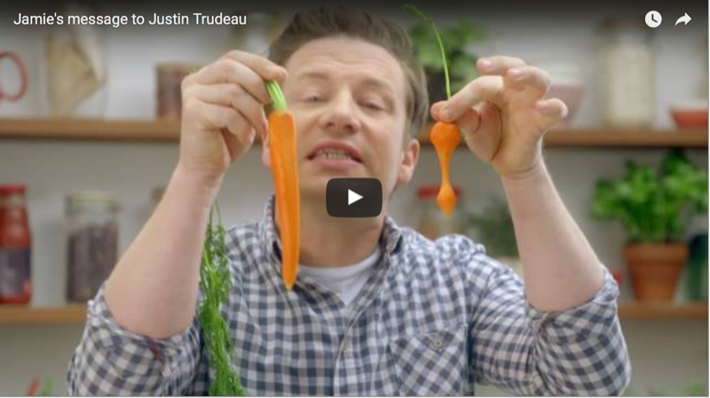 Attention Justin Trudeau to Jamie Oliver's Food Revolution