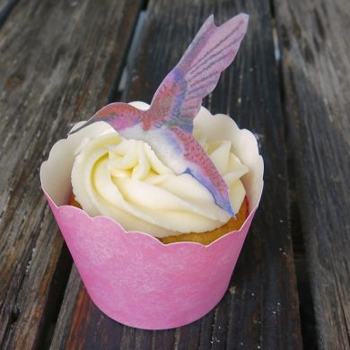 1 Hummingbird Cupcake