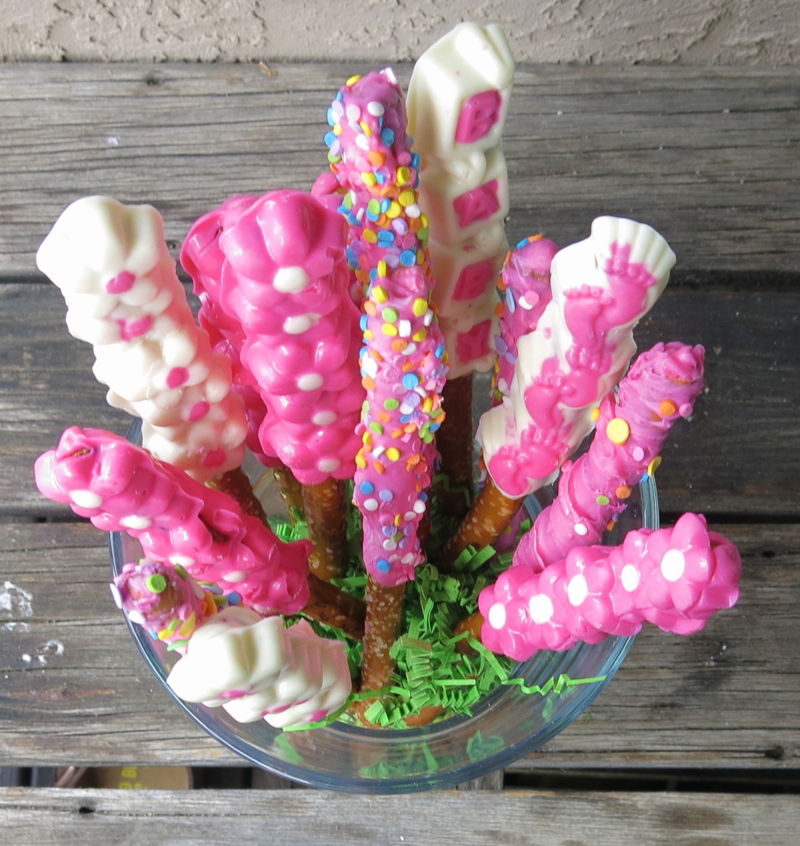 2b Girl Baby Shower Old Fashioned Preyzel Sticks