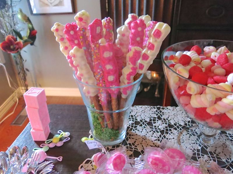 Girl Baby Shower Old Fashioned Pretzel Sticks All Dressed Up For The