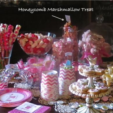 1 Honeycomb Marshmallow Treat on Dessert Buffet copy