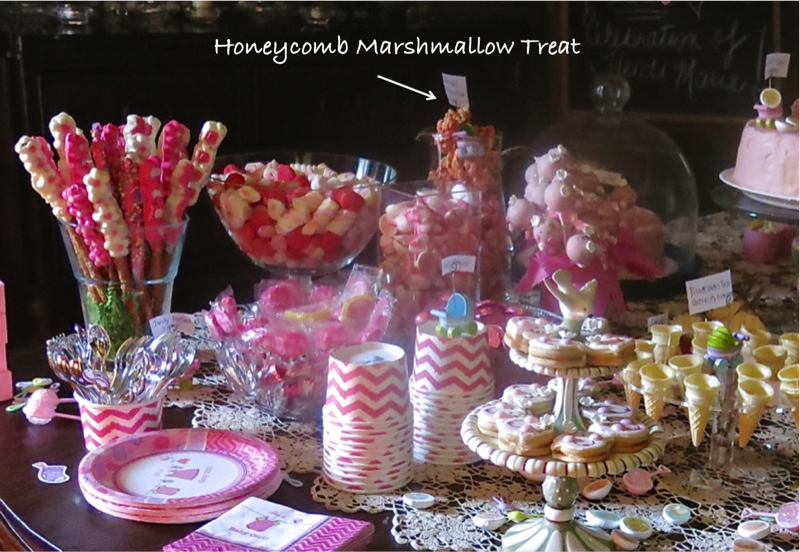 1 Honeycomb Marshmallow Treat on Dessert Buffet copy