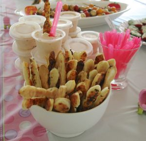 12 Girl Baby Shower Savory Buffet