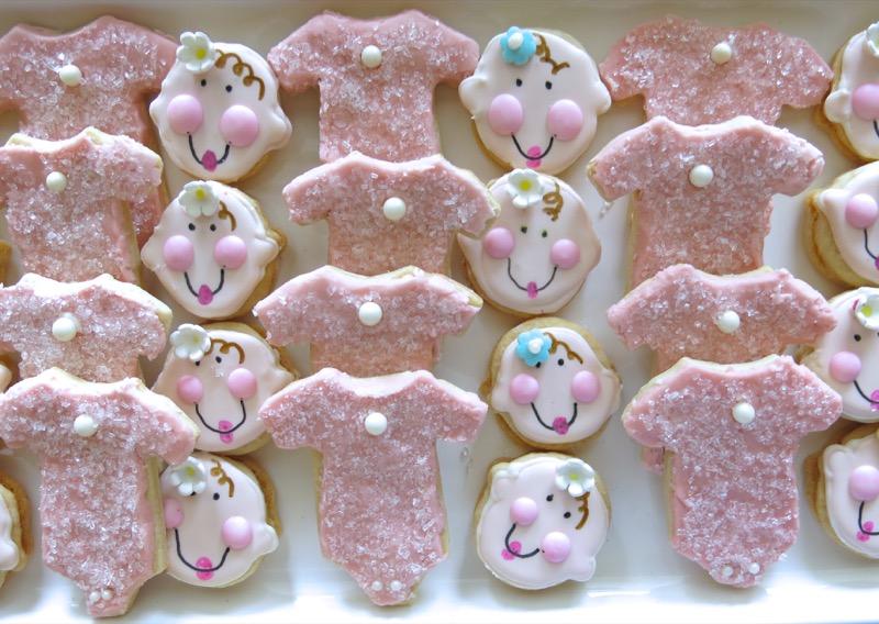 18 Baby Onesie Butter Cookies