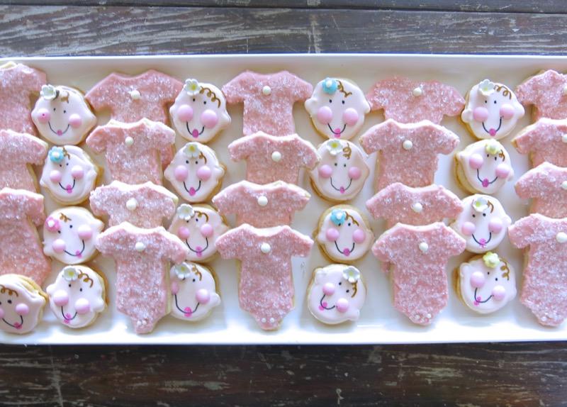 2 Baby Onesie Butter Cookies