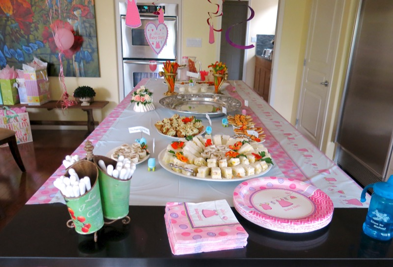 2 Girl Baby Shower Savory Buffet