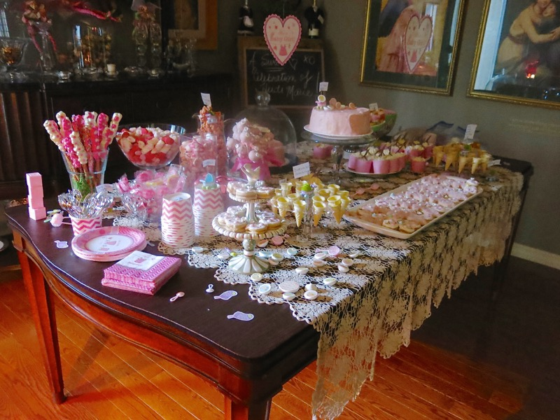 23 Girl Baby Shower Dessert Buffet