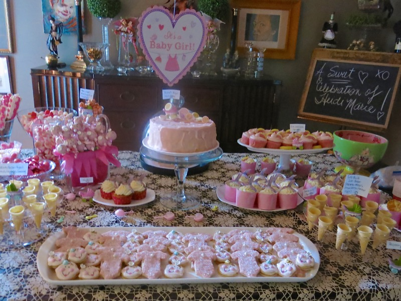 25 Girl Baby Shower Dessert Buffet