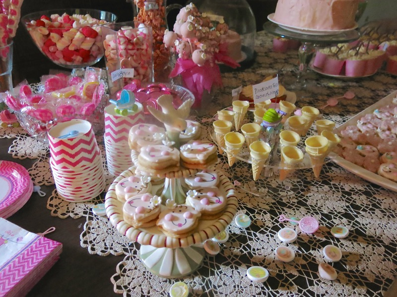 26 Girl Baby Shower Dessert Buffet