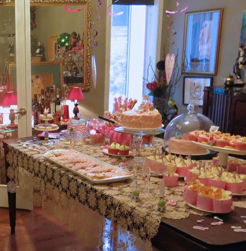 28 Girl Baby Shower Dessert Buffet