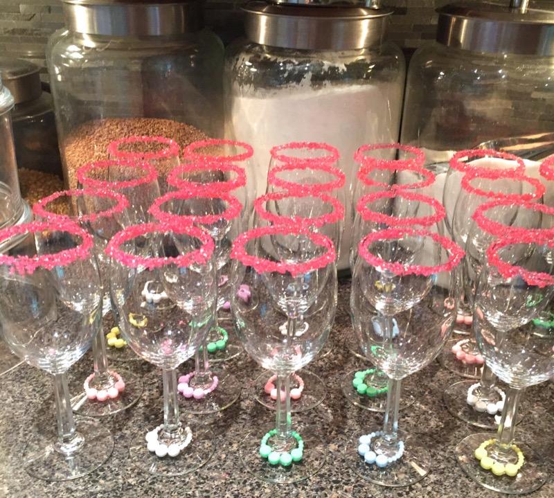 29 Sparkling Pink Sugar Rimmed Glasses