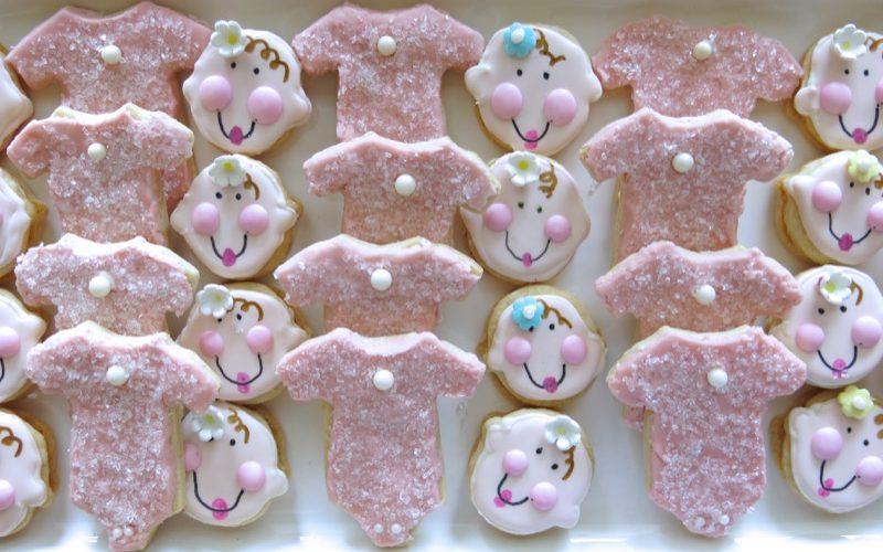 3 Baby Onesie Butter Cookies