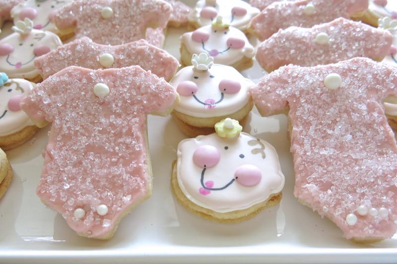 4 Baby Onesie Butter Cookies