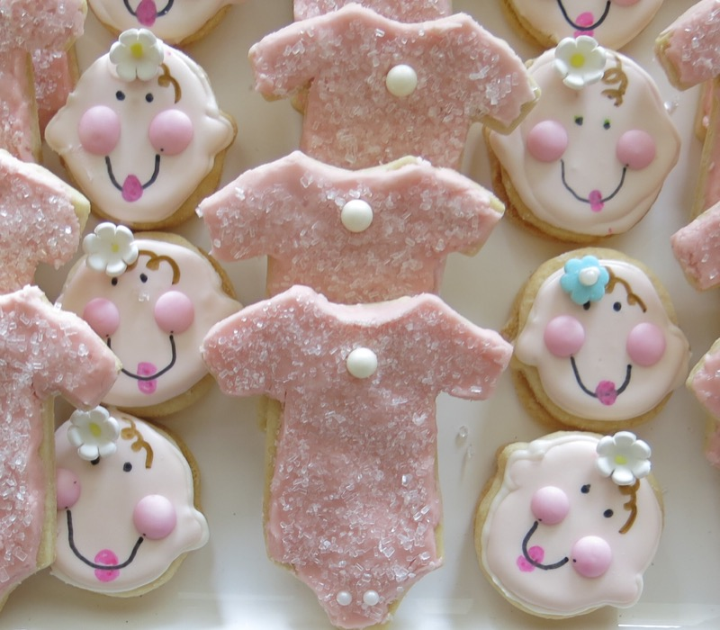 5 Baby Onesie Butter Cookies