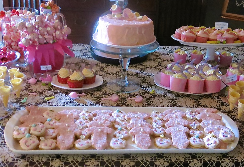 5 Girl Baby Shower Dessert Buffet