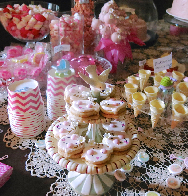 6 Girl Baby Shower Dessert Buffet