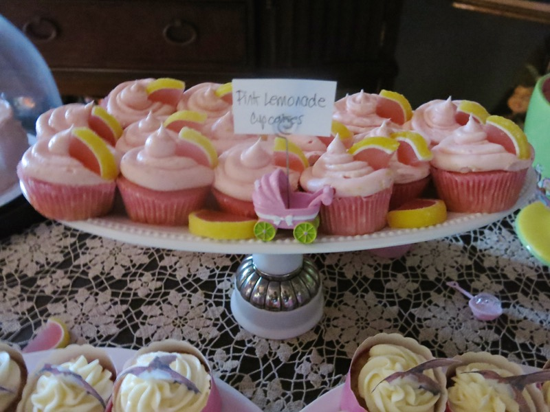 Pink Lemonade Cupcakes on Dessert Buffet