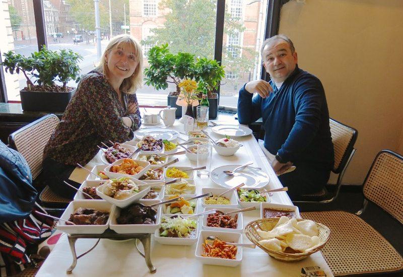 Dutch Food: Indonesian Rijsttafel at Garoeda in The Hague