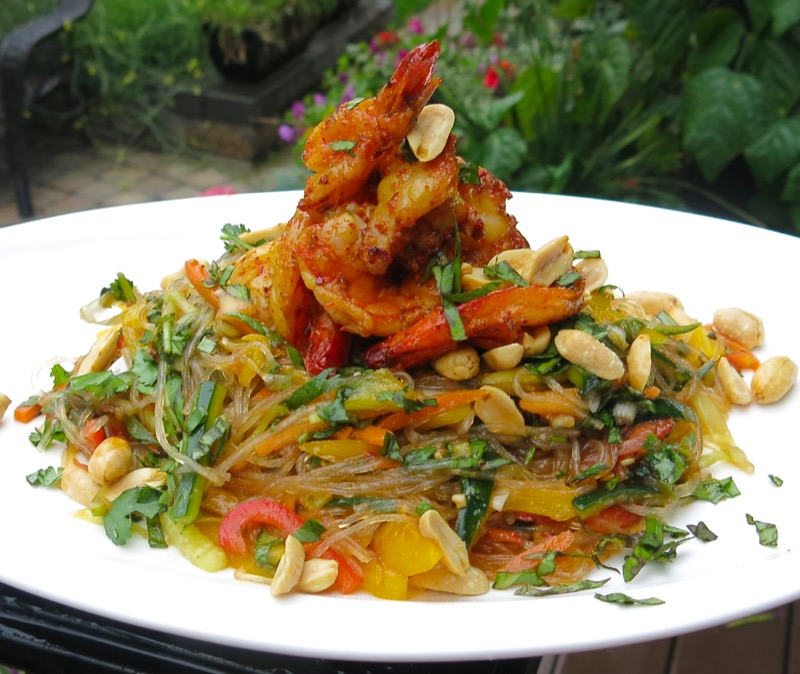 2-philips-airfyer-tiger-shrimp-and-glass-noodle-salad